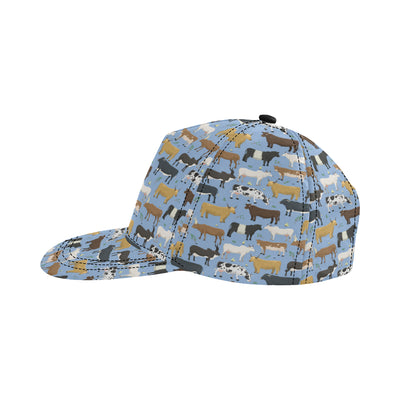 Cattle Pattern Print Design 02 Snapback Hat