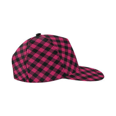 Buffalo check Pink Pattern Print Design 01 Snapback Hat