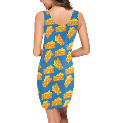 Cheese Pattern Print Design 05 Mini Dress
