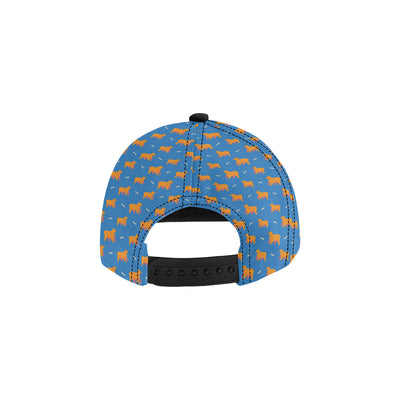Cocker Pattern Print Design 04 Snapback Hat