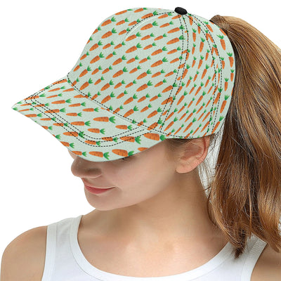 Carrot Pattern Print Design 05 Snapback Hat