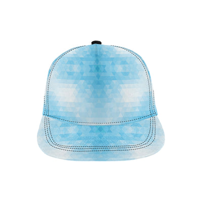 Geometric Blue Pattern Print Design 01 Snapback Hat
