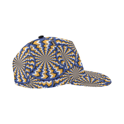 Optical illusion Pattern Print Design A01 Snapback Hat