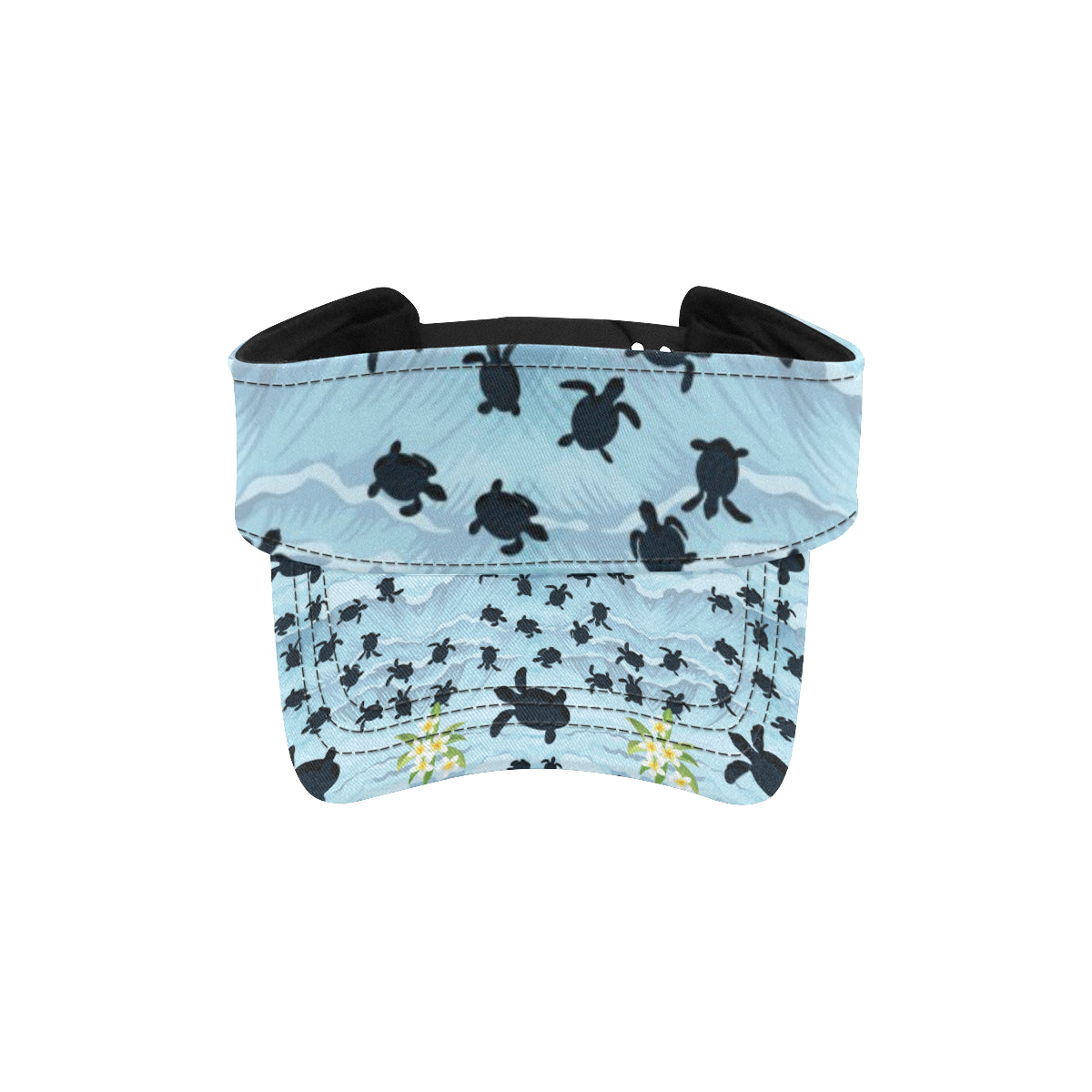 Sea Turtle Pattern Print Design T011 Unisex Sun Visor