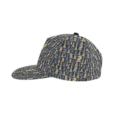 Chess Pattern Print Design 04 Snapback Hat