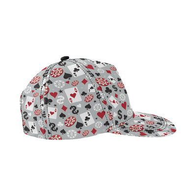 Casino Pattern Print Design 01 Snapback Hat