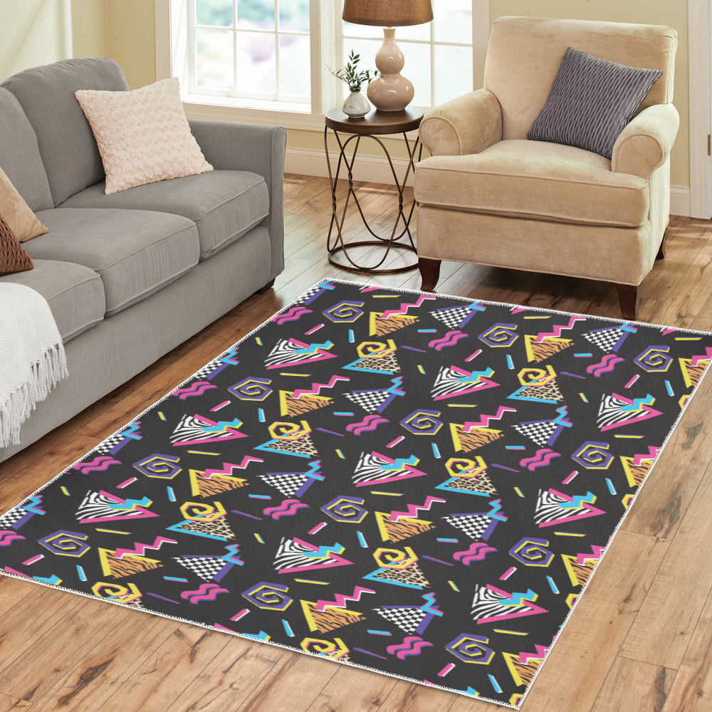 80s Pattern Print Design 3 Area Rug