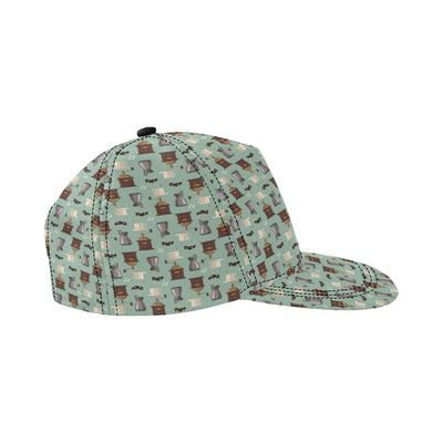 Coffee Pattern Print Design 04 Snapback Hat