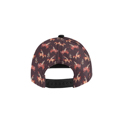 Rodeo Pattern Print Design A01 Snapback Hat