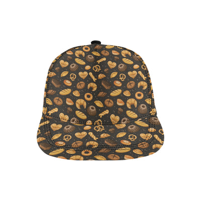 Bread Pattern Print Design 05 Snapback Hat
