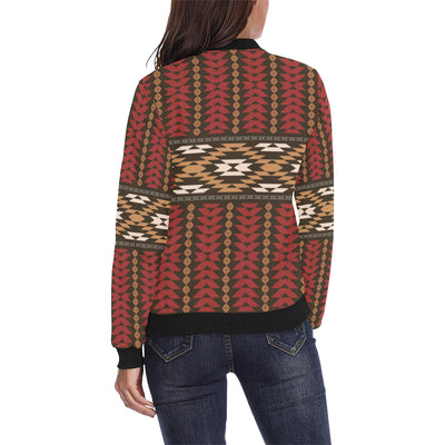 Native Pattern Print Design A02 Women Bomber Jacket