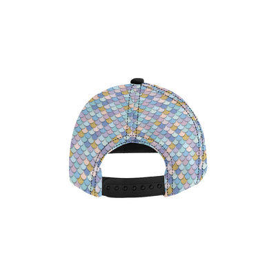 Mermaid Scales Pattern Print Design 05 Snapback Hat