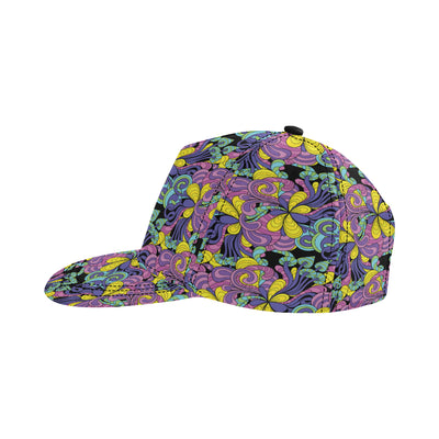 Psychedelic Pattern Print Design A04 Snapback Hat