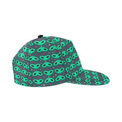 Alien Head Heart Pattern Print Design 03 Snapback Hat