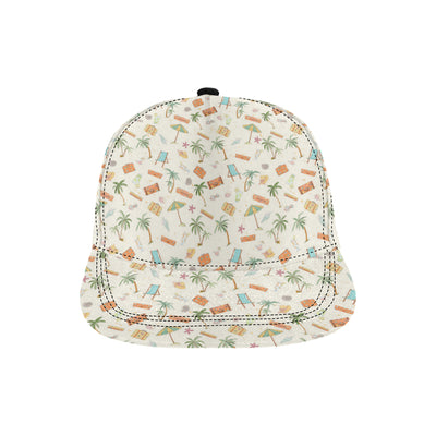 Beach Themed Pattern Print Design 05 Snapback Hat