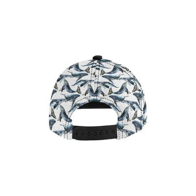 Blue Whale Pattern Print Design 03 Snapback Hat