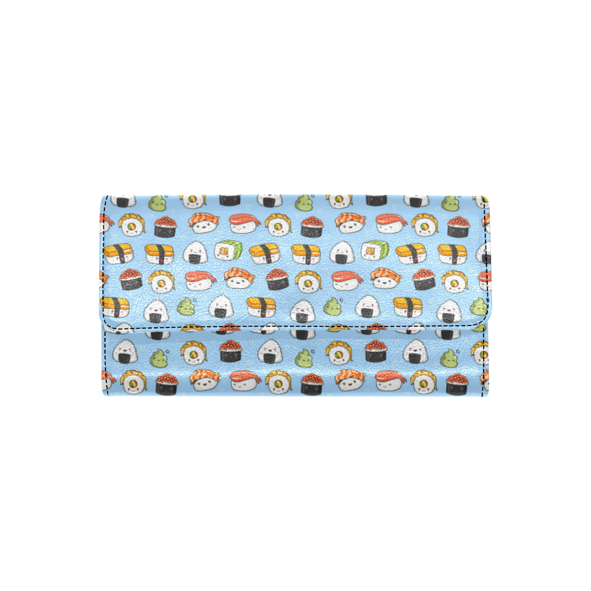 Sushi Cartoon Design Women Trifold Wallet