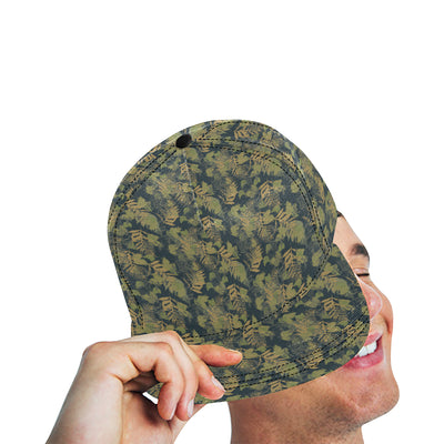 Camouflage Tropical Pattern Print Design 04 Snapback Hat