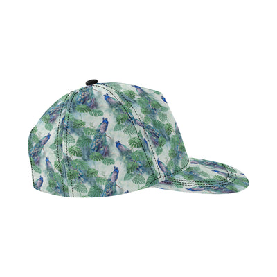 Peacock Pattern Print Design A02 Snapback Hat