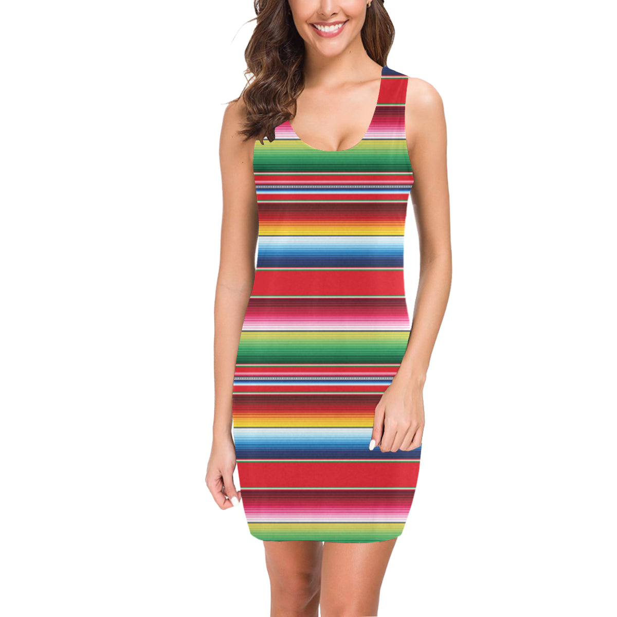 Serape Pattern Mini Dress