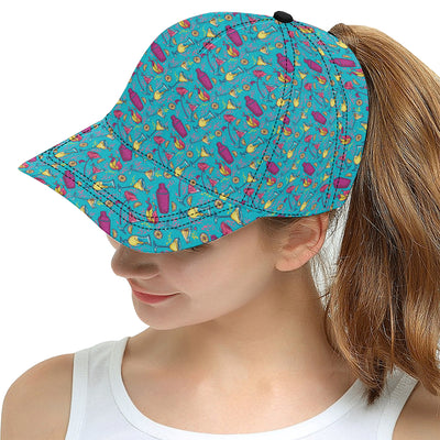 Cocktail Pattern Print Design 03 Snapback Hat