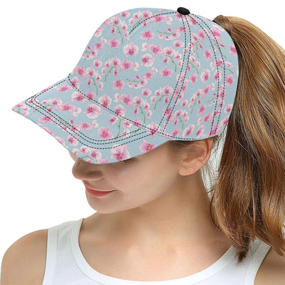 Orchid Pattern Print Design A01 Snapback Hat