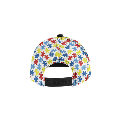 Autism Awareness Pattern Print Design 04 Snapback Hat