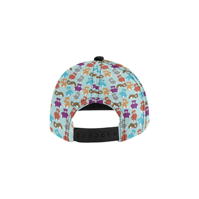Bear Cute Pattern Print Design 03 Snapback Hat