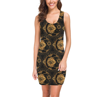 Sun Moon mandala Third eye Mini Dress