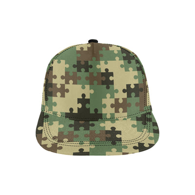 Puzzle Camo Pattern Print Design A03 Snapback Hat
