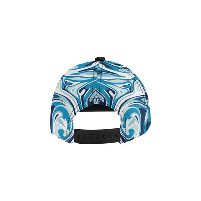 Liquid Pattern Print Design 05 Snapback Hat