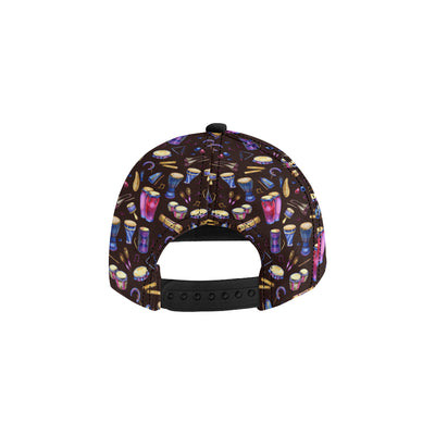 Percussion Neon Pattern Print Design 04 Snapback Hat