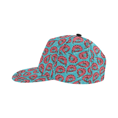 Prawn Pattern Print Design 01 Snapback Hat