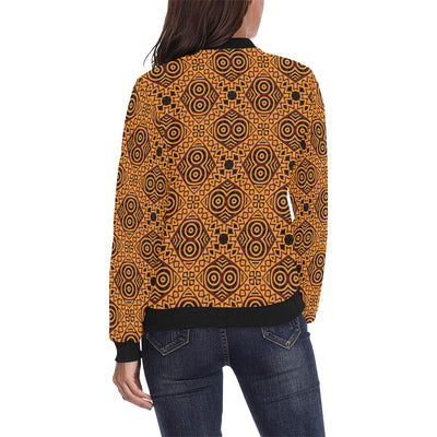 African Pattern Print Design 05 Women Bomber Jacket