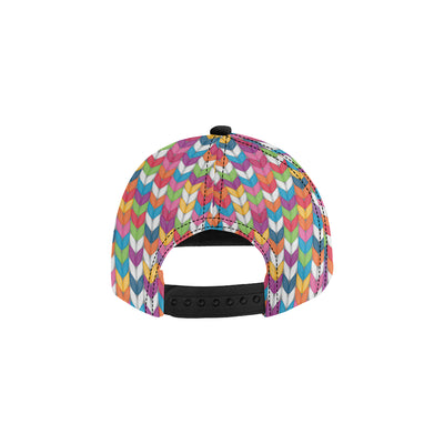Knit Pattern Print Design 01 Snapback Hat