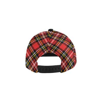 Plaid Red Pattern Print Design A03 Snapback Hat