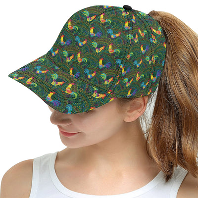 Rooster Pattern Print Design A01 Snapback Hat