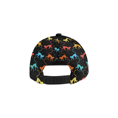 Monkey Pattern Print Design 01 Snapback Hat