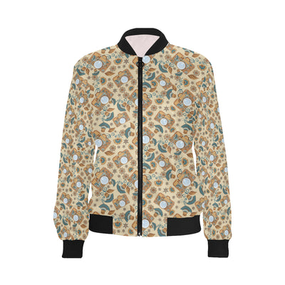 Camera Pattern Print Design 05 Women Bomber Jacket