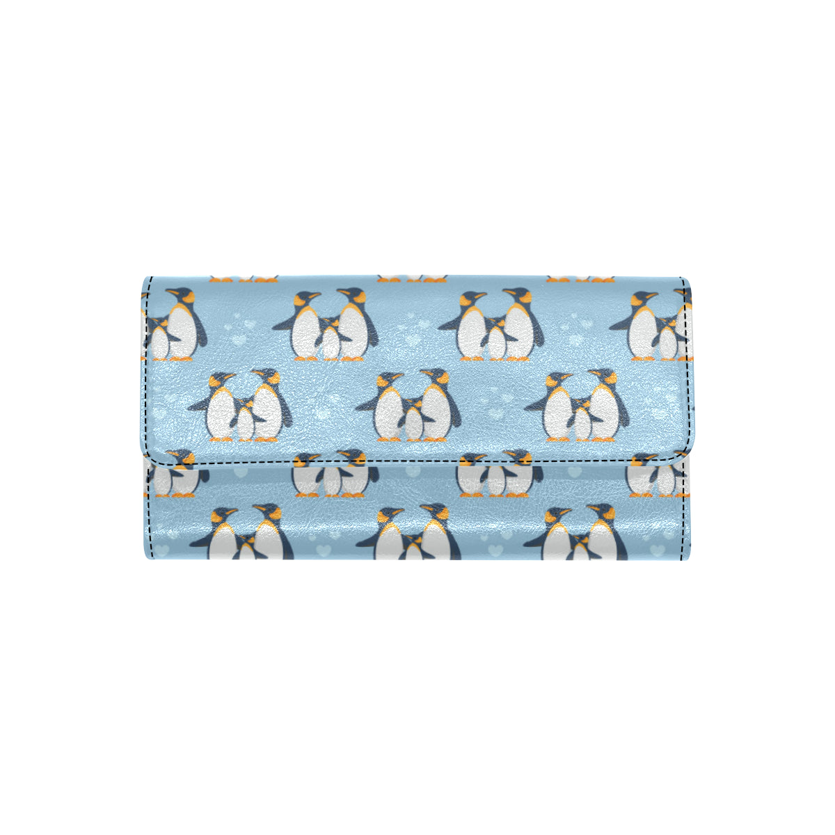 Penguin Pattern Print Design A04 Women Trifold Wallet