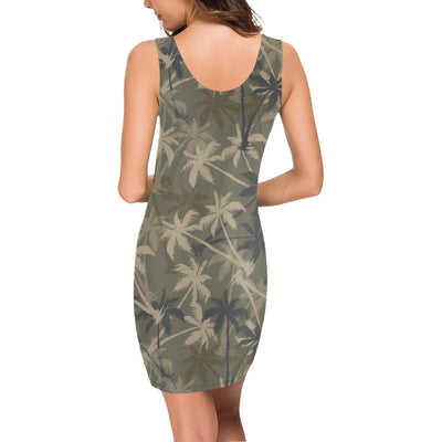 Palm Tree camouflage Mini Dress