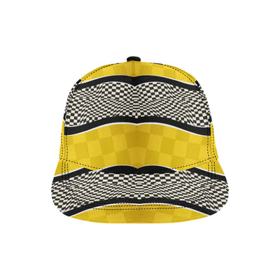 Checkered Pattern Print Design 02 Snapback Hat