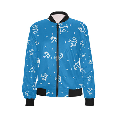 Libra Pattern Print Design 05 Women Bomber Jacket