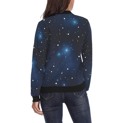 Night sky Pattern Print Design A02 Women Bomber Jacket