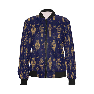 Nutcracker Pattern Print Design A05 Women Bomber Jacket