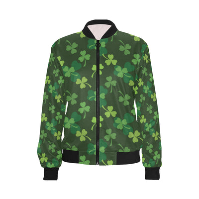 Irish Pattern Print Design 03 Women Bomber Jacket
