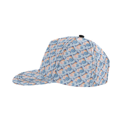 Bluebird Pattern Print Design 01 Snapback Hat