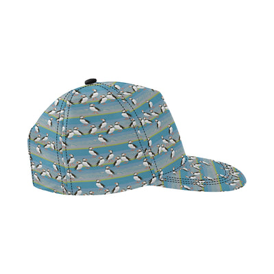 Puffin Pattern Print Design A01 Snapback Hat