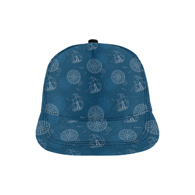 Nautical Pattern Print Design A04 Snapback Hat