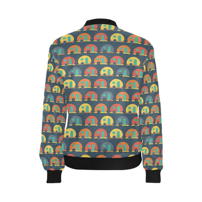 Camper Pattern Print Design 02 Women Bomber Jacket